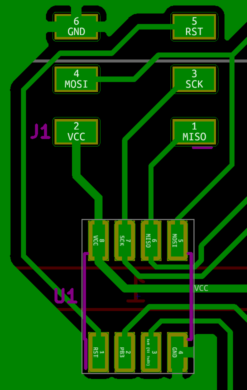 Programming header pin layout